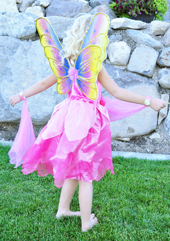 Rainbow Glitter Fairy Wings