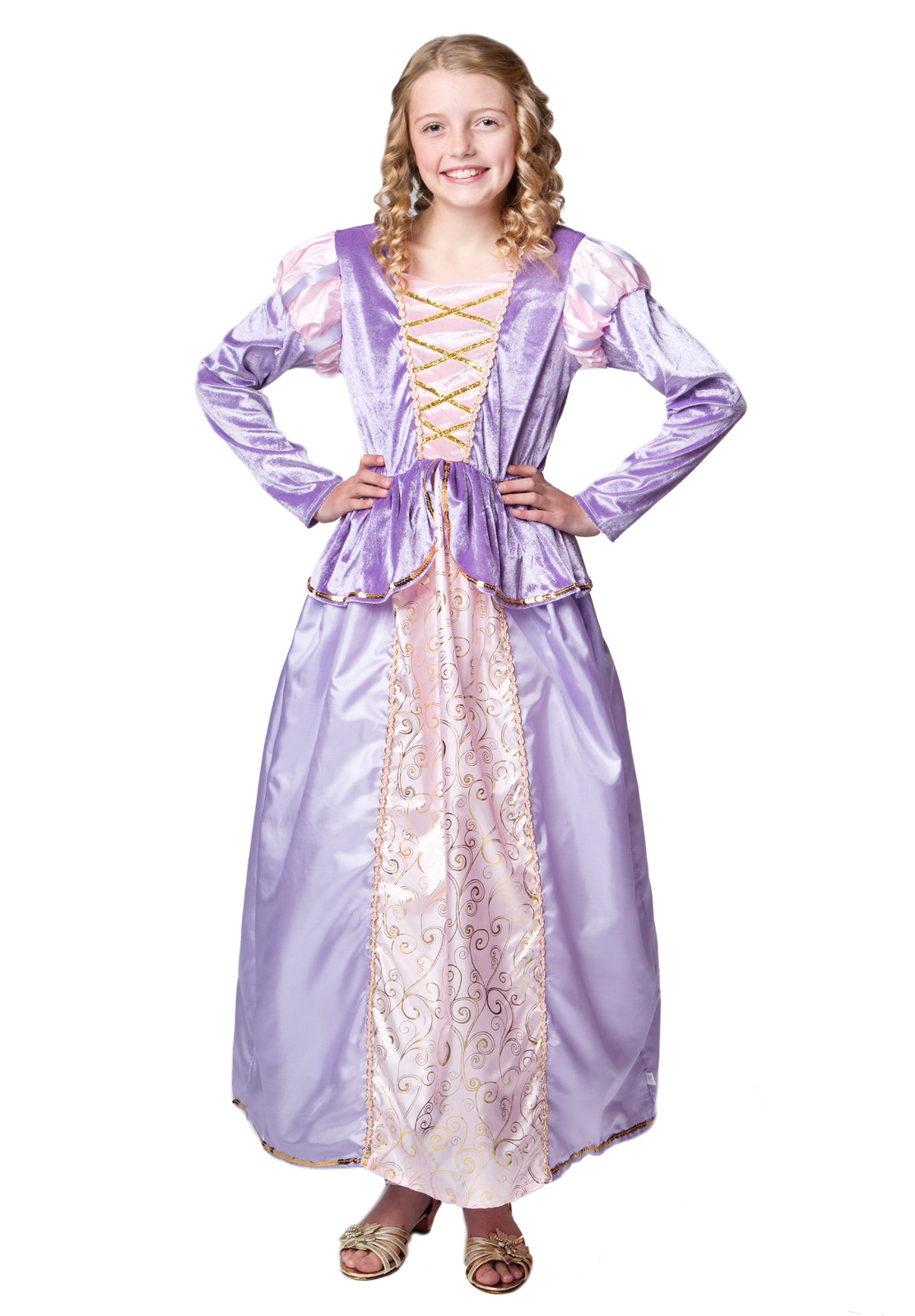 Shown with Fullness Slip sold separately  sc 1 st  Little Dress Up Shop & Rapunzel Tangled Inspired Dress for Tweens