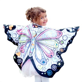 "Reversible Butterfly ""Color a Costume"" with Markers"