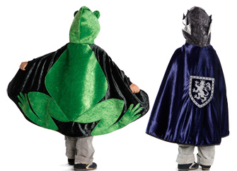 Reversible Frog Prince Cape