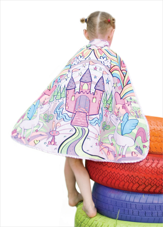 "Reversible Princess ""Color a Cape"" with Markers"