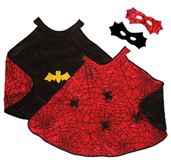 Reversible Spider and Bat Cape with Mask