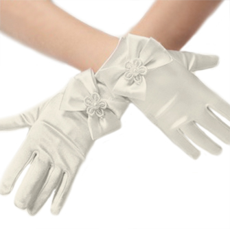 Short Ivory Princess Gloves