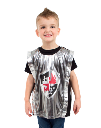 Silver and Red Knight Tunic