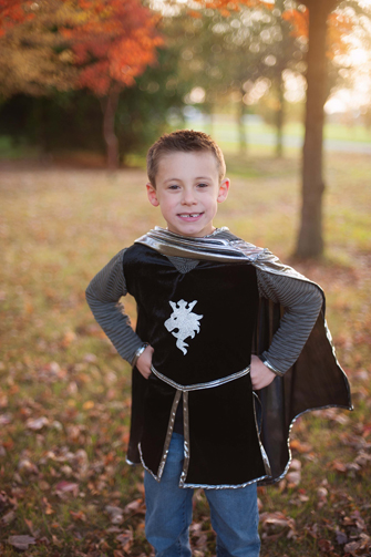 Deluxe SILVER Knight Tunic <BR>with Cape and Crown