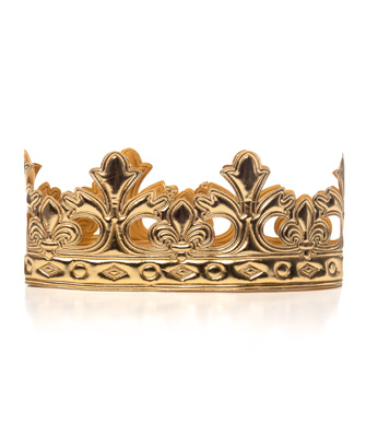 Soft Gold King/Queen Crown