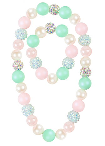 Sorbet Sparkles Necklace and Bracelet Set