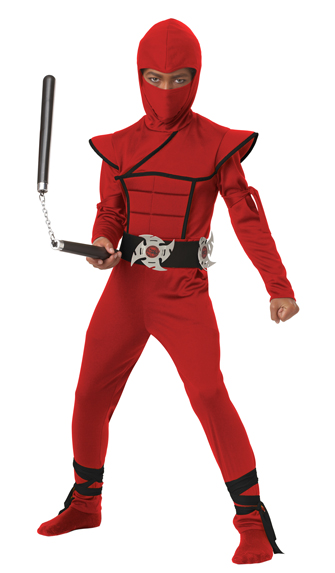 Red Ninja Costume for Kids