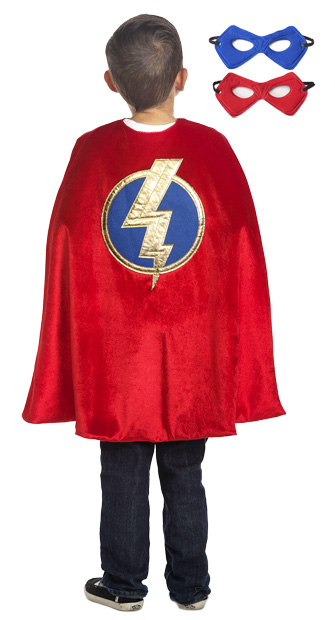 Boys Superhero Cape and Mask Set