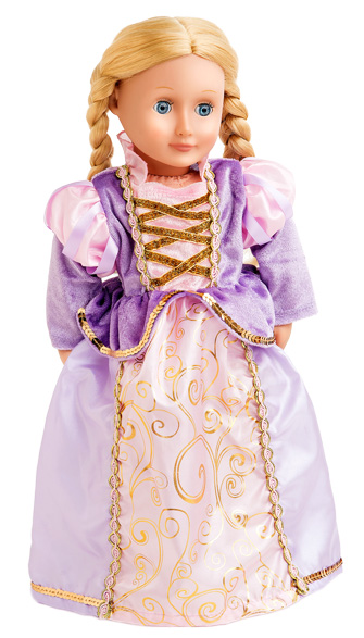 Rapunzel Doll Dress - Long Sleeve Style