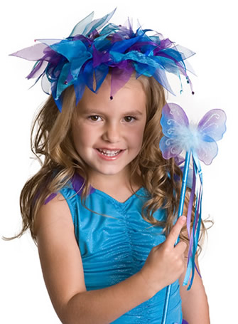Teal Fairy Halo and Wand - by Little Adventures