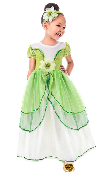 Retired - Frog Princess Dress (Size Small 2/3T available)