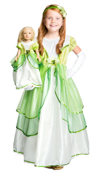 Frog Princess Child and Doll Dress Set - by Little Advent...