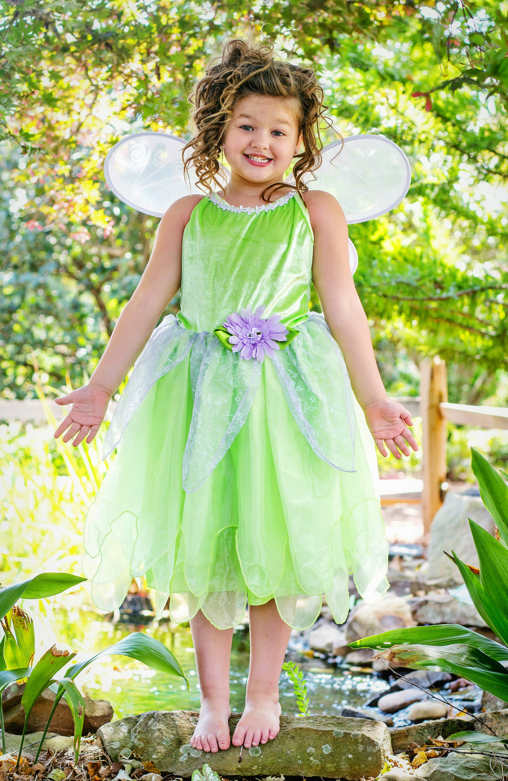 Wings available separately  sc 1 st  Little Dress Up Shop & DELUXE Tinkerbell Fairy Dress Up Costume | Girls Tinkerbelle Dress