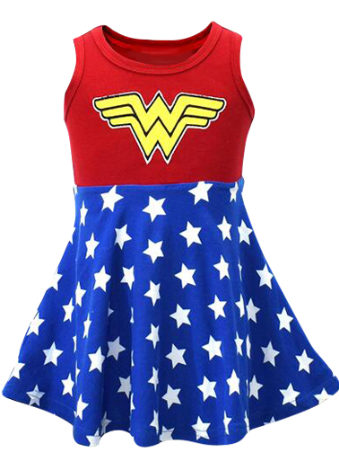 Wonder Woman Inspired Tank Dress
